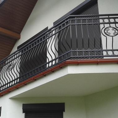 Balustrada metalowa kuta