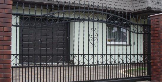 brama wjazdowa przesuwna D012